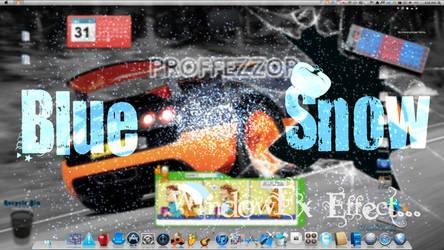 Blue Snow effect for Stardock WindowFX by lkearney29