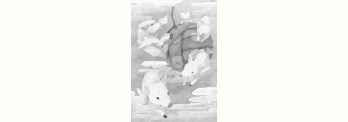 Gray Bakugami (Okamiden) by scriptureofthescribe