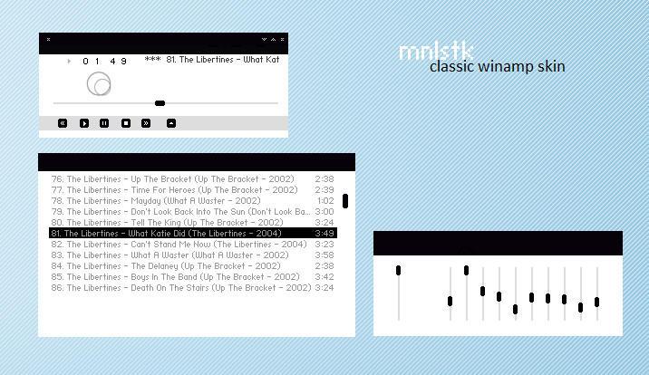 mnlstk. Winamp Classic by realitydoesnotexist