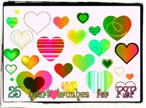 PSP Heart Brushes
