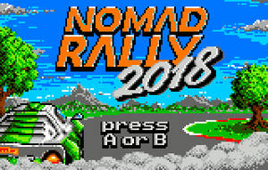Nomad Rally 2018 eJagFest Demo - start screen