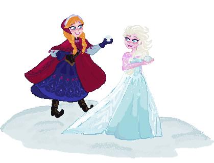 Anna And Elsa Pixel