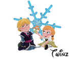 Young love - Kristoff And Anna From Disney Frozen
