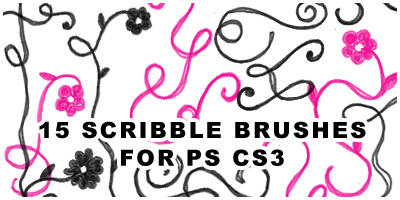 15 scribble brushes for ps cs3