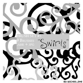 Swirl Brush Set 01 by wickedjess