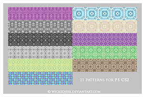 11 PS CS2 Patterns by wickedjess