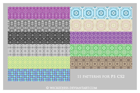 11 PS CS2 Patterns by wickedjess