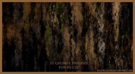 10 Grunge Brushes for CS2