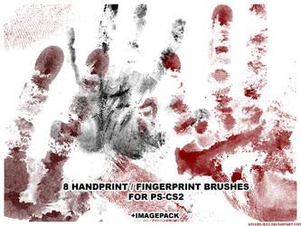 8 Handprint Brushes for PS CS2