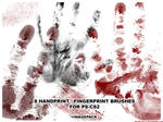 8 Handprint Brushes for PS CS2