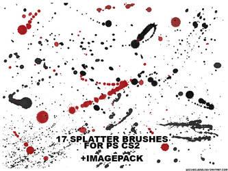 17 Splatter Brushes for PS CS2