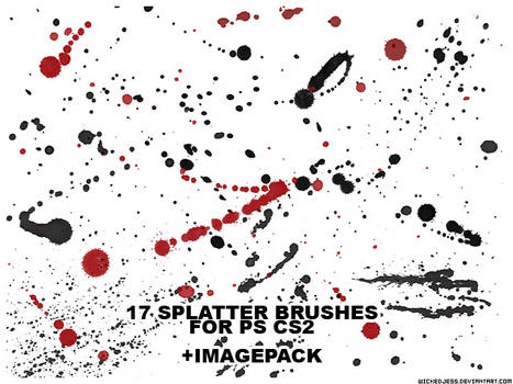 17 Splatter Brushes for PS CS2