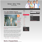 Medical Blogger theme by wastematerials