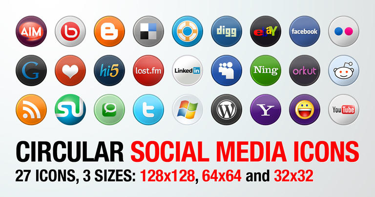 Social Media Icons by wastematerials