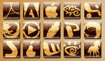 wooden dock icons