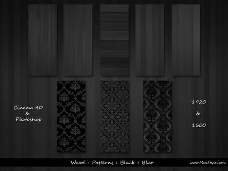 Wood + Pattern + Black + Blur by vStyler