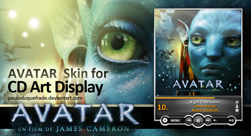 Avatar Skin for Cd Art Display by PauloDuqueFrade