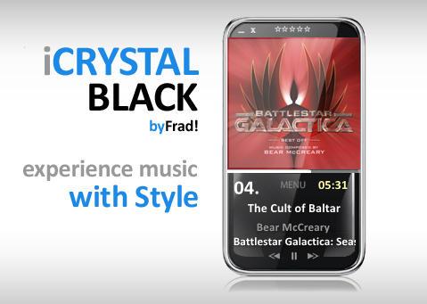 iCrystal Black Cd Art Display