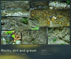 Rocks, dirt and gravel | Color palettes for GIMP