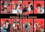 Gekkan Shojo Nozaki renders