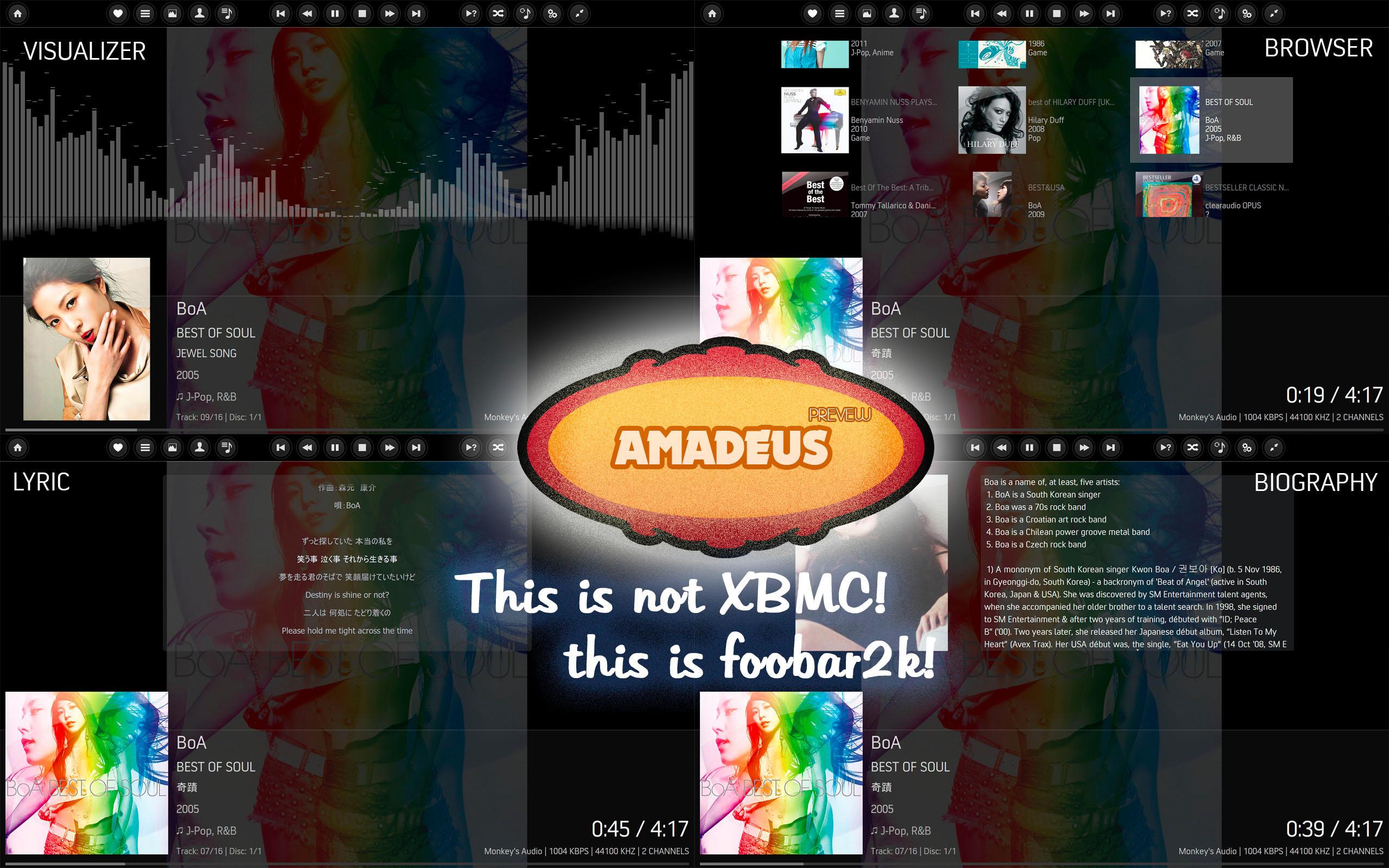 Amadeus v1 - A foobar2k HTPC skin by dsync89