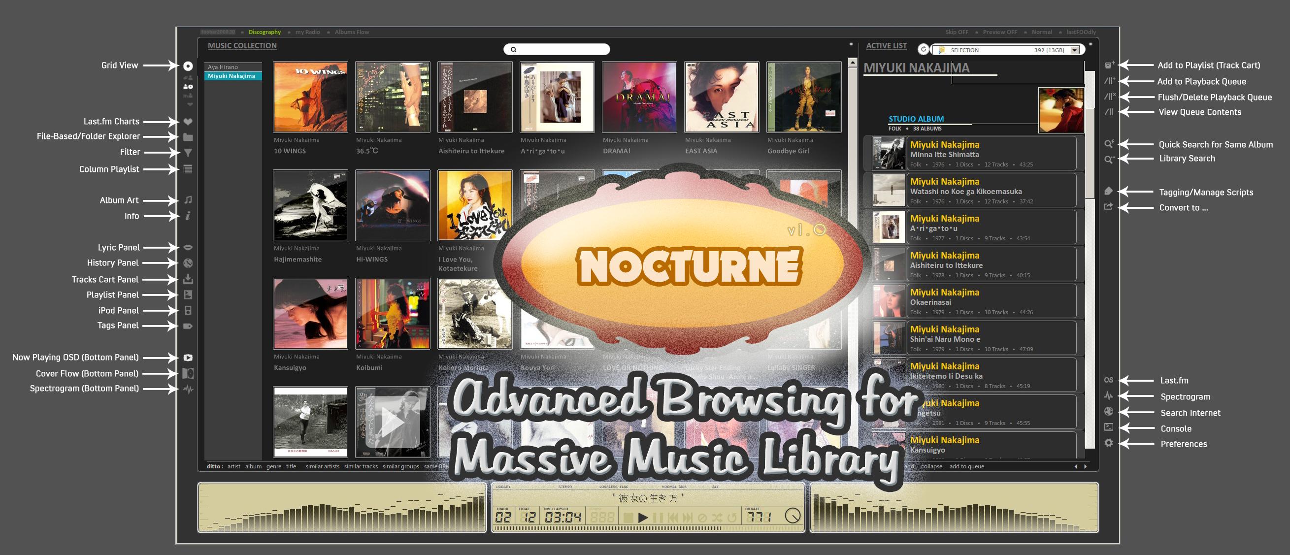Nocturne for foobar2k v1.0 by dsync89