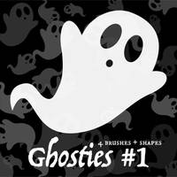 Ghosties #1 (4 Brushes + Custom Shapes) by falonyates