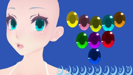 MMD Yandere simulator eye texture  (sane) by lunarwing0