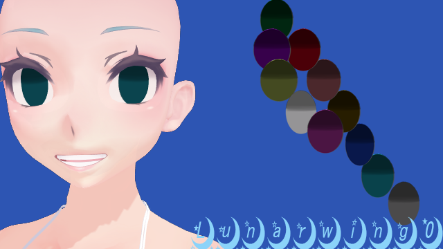 MMD Yandere Simulator Eye Texture Insane By Lunarwing0