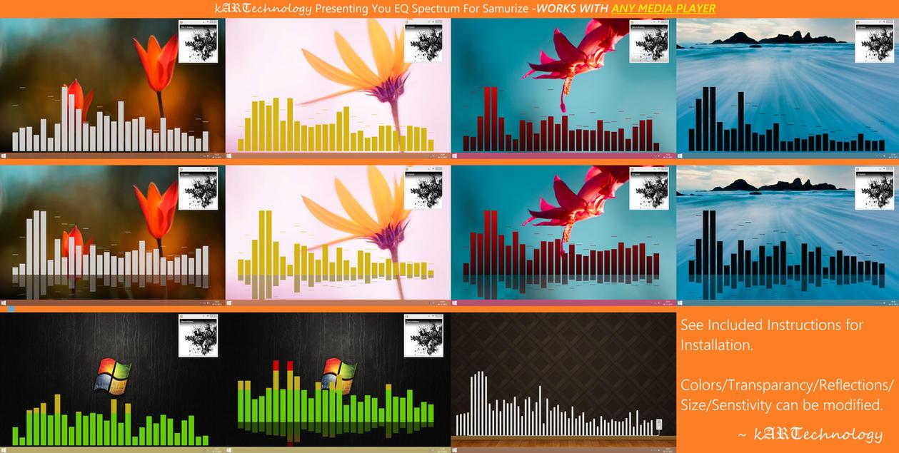 Equalizer Spectrum- Samurize v4 -ANY MEDIA PLAYER- by kARTechnology