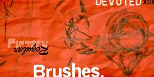 15 regular brushes for GIMP by DevotedD