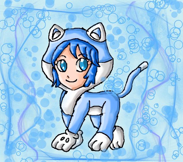 cat aqua by ninpeachlover