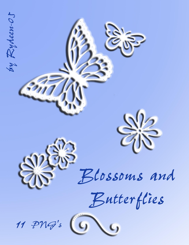 Blossoms+Butterflies by RYDEEN-05-2