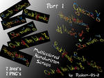 Multicolored Handwritten Scraps Hi Res by RYDEEN-05-2