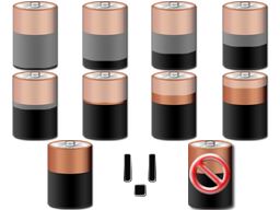 Battery Meter Icons by tooparannoyed