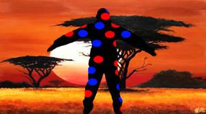 African Star Jump by Cartoon68