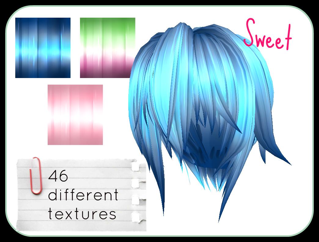 Sweet Mmd Hair Textures By Jackinn On Deviantart