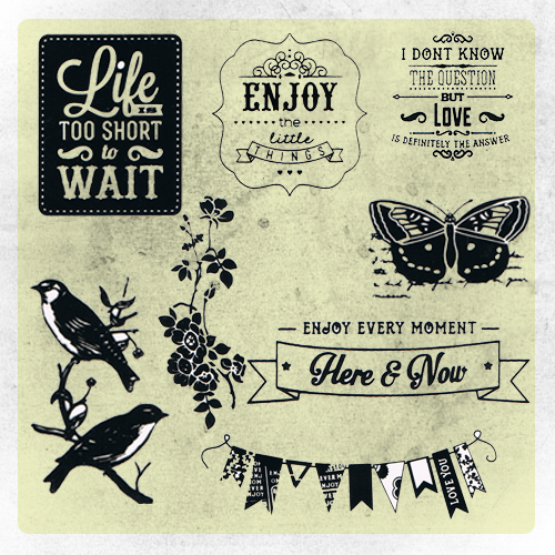 Life - Clear Stamps Packs by ImmortalityOfEmoPoet