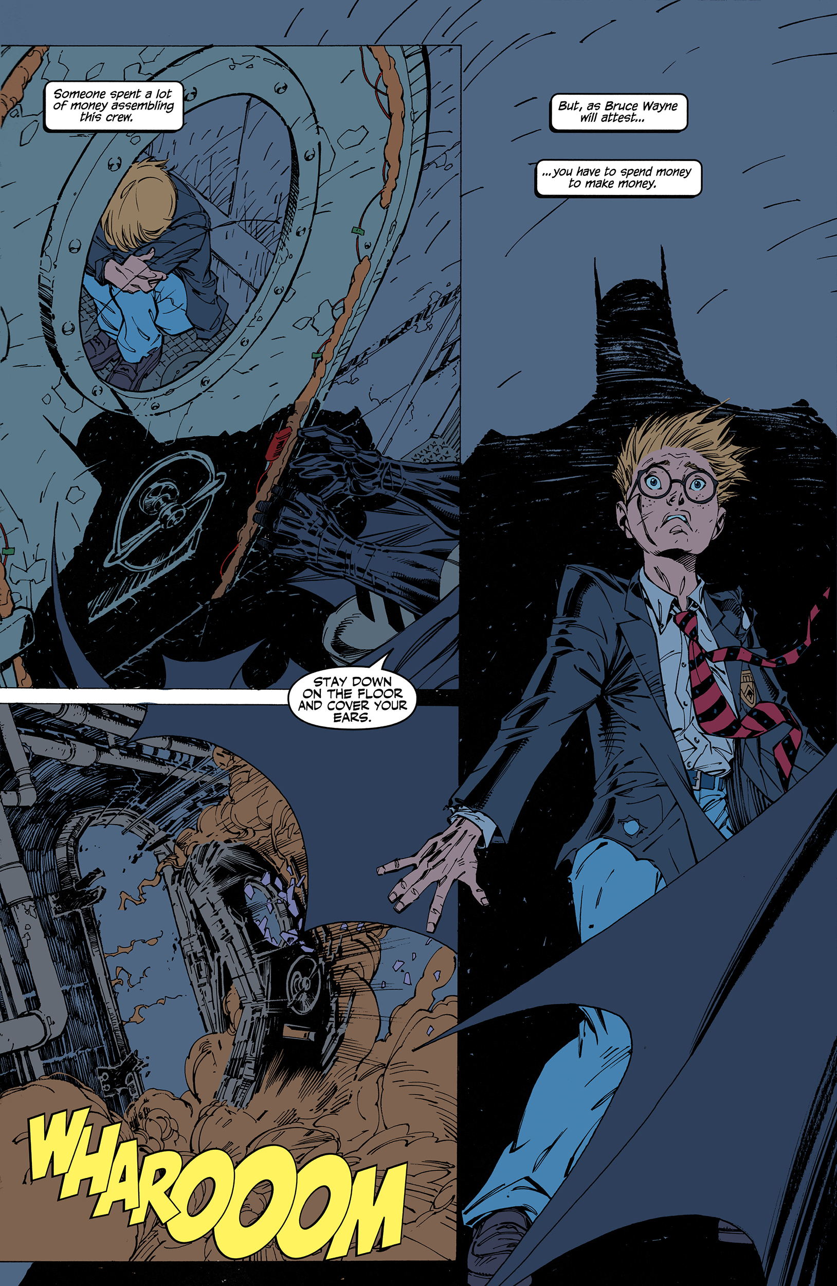 Batman: Hush page 5 FLATS