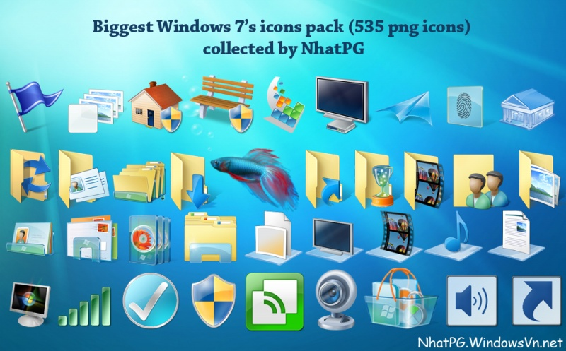 Big Windows 7's icons pack