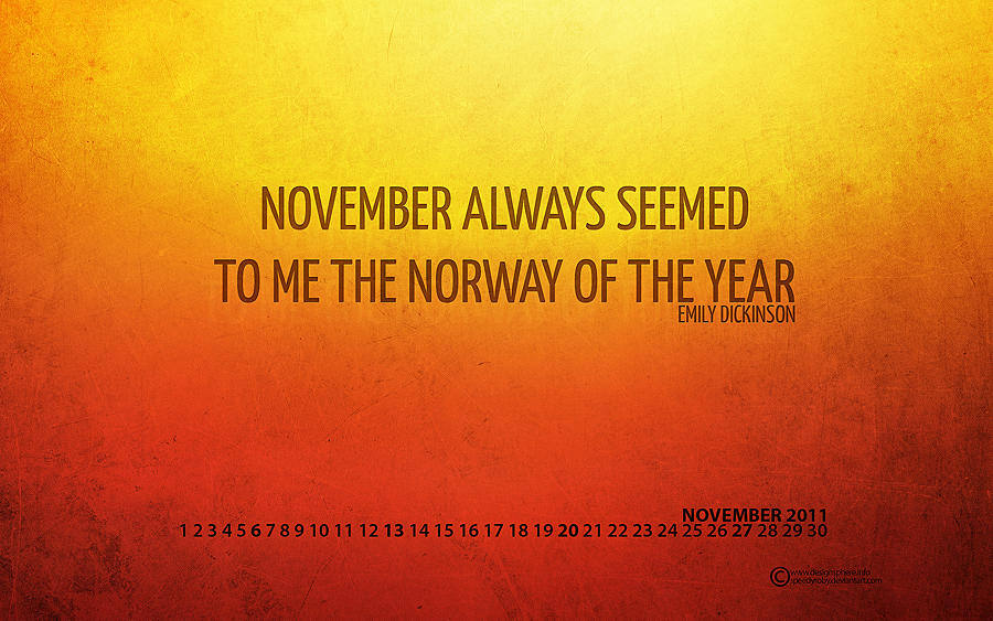 November 2011 Wallpaper by SpEEdyRoBy