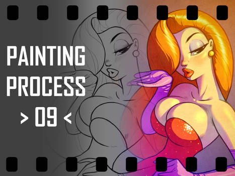 Painting Video 09 Jessica Rabbit