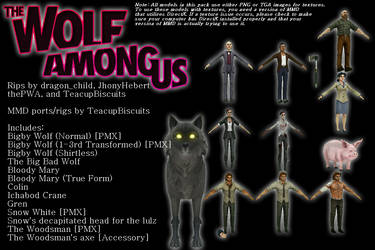 [MMD] The Wolf Among Us Model Pack [+DL]