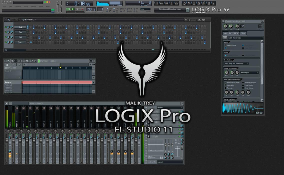 LOGIX Pro : Skin for FL Studio 11 by malik-trey