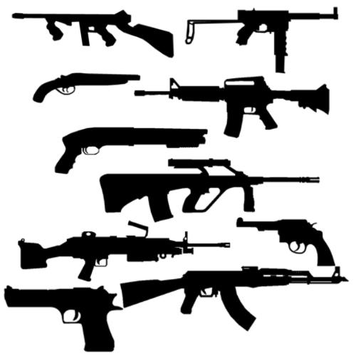 10 Guns Brush Pack by Rab1dRh1no
