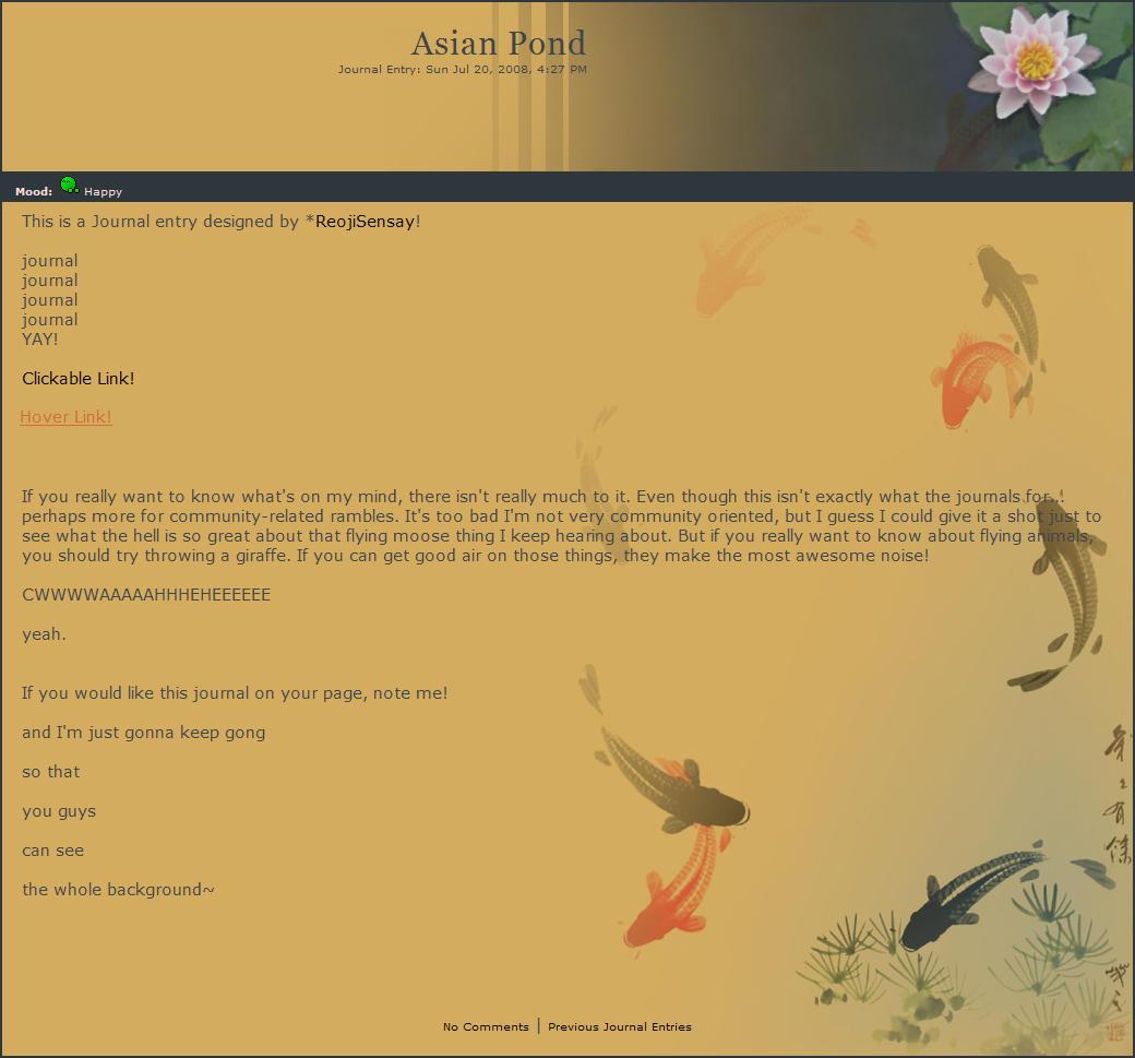 Asian Pond by ReojiSensay
