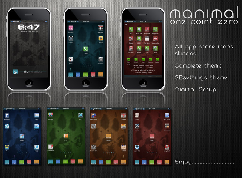 manimal iPhone theme