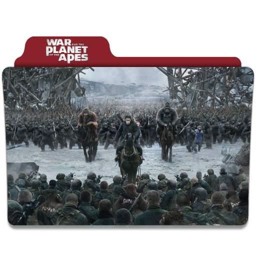 War For The Planet Of The Apes 2017 Folder Icon By Ackermanop On Deviantart