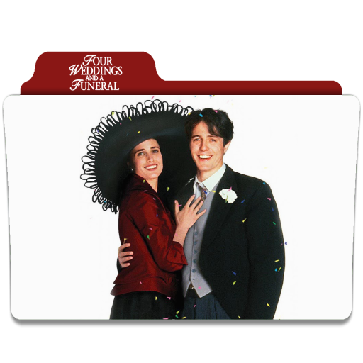 Four Weddings And A Funeral 1994 Folder Icon By Ackermanop On Deviantart