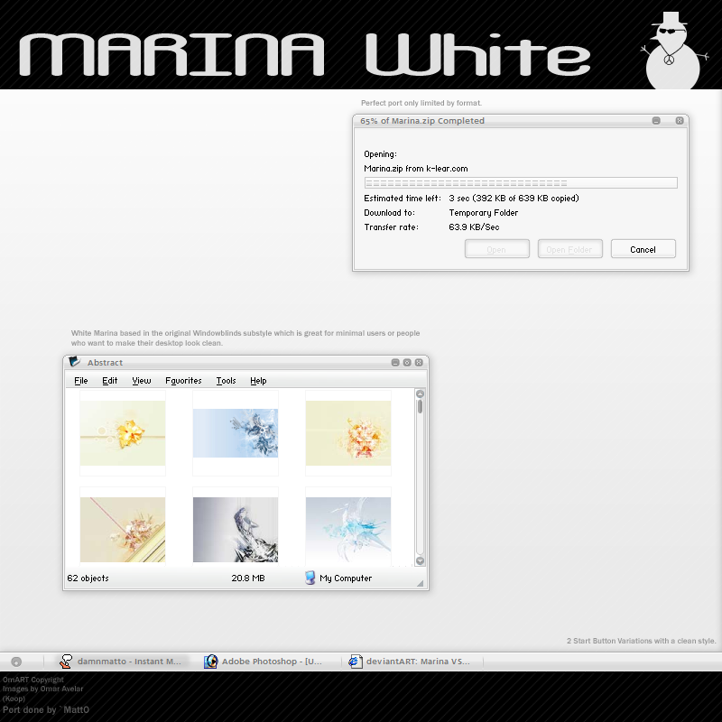 Marina White VS by OmART